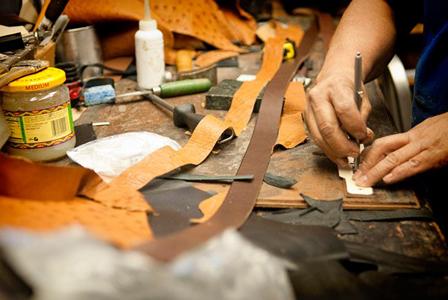 custom hand-made leather belt design