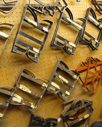 collection of leather cutting dies