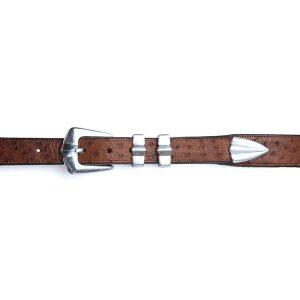 david espinoza ostrich leather belt