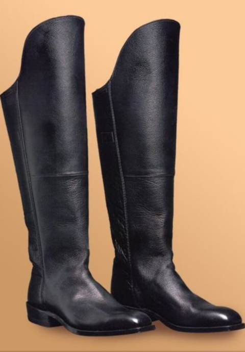 black buffalo calf cavalry boot