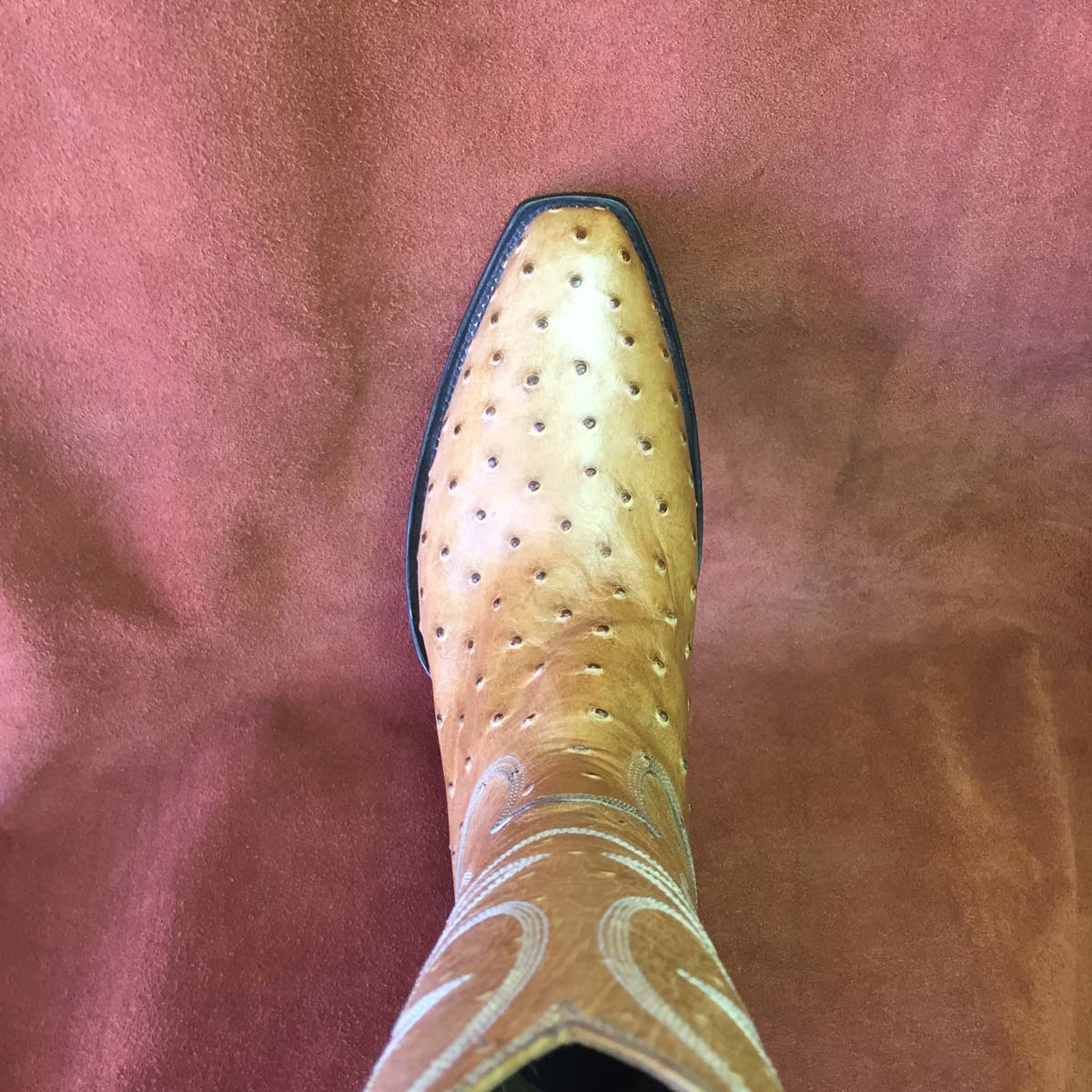 antique saddle full quill ostrich cowboy boots