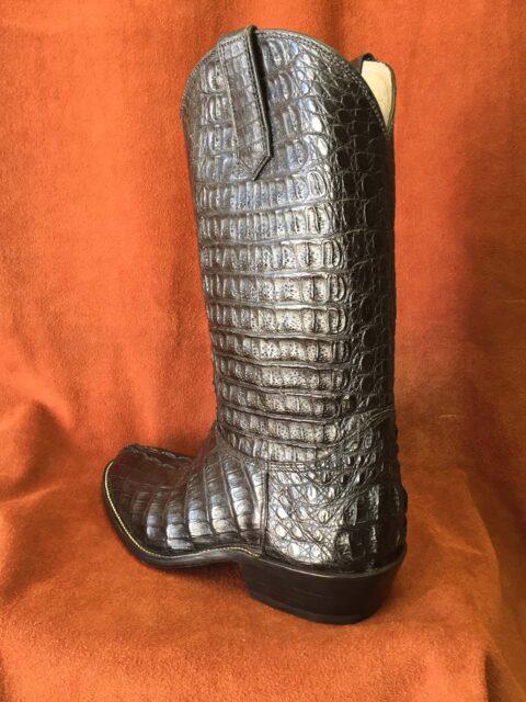 black caiman gator cowboy boots