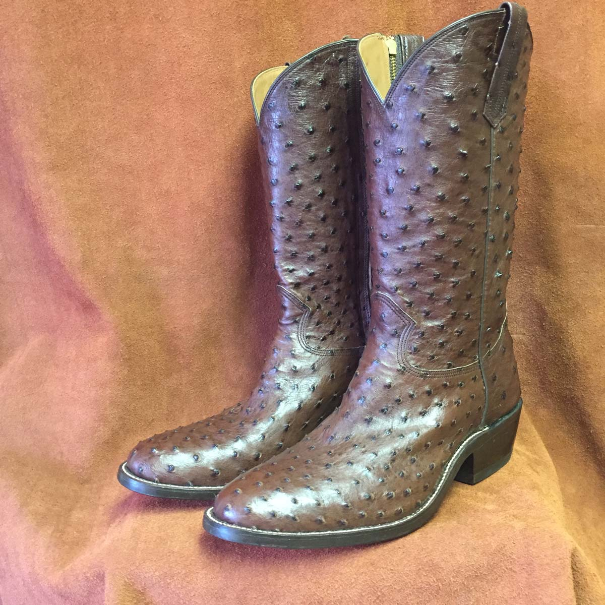 tobac full quill ostrich cowboy boots