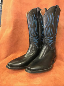 Black Soft Calf Cowboy Boots