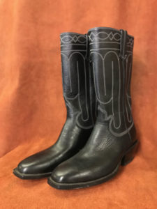 Black Stove Pipe Cowboy Boots