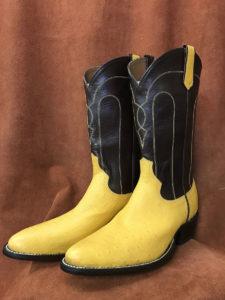 Buttercup Partial Quill Ostrich Cowboy Boots
