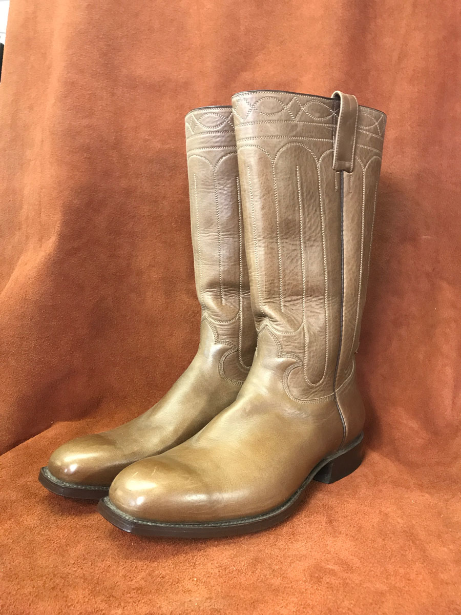 Distressed Brown Calf Cowboy Boots