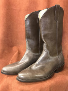 Distressed Cowhide With Embossed Shaft Cowboy Boots