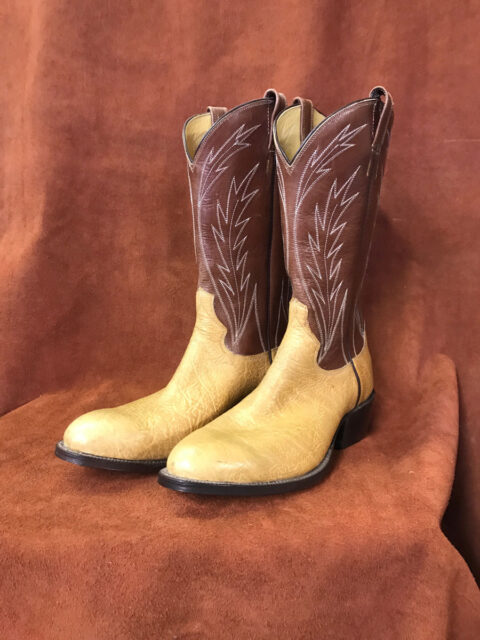 Light Tan Bullhide Cowboy Boots