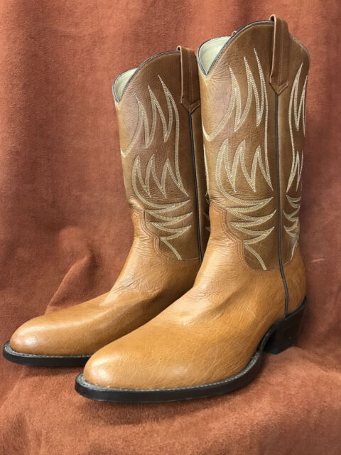 No Quill Ostrich Cowboy Boots