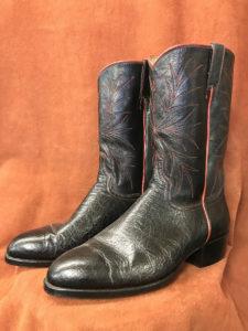Soft Black Buffalo Cowboy Boots