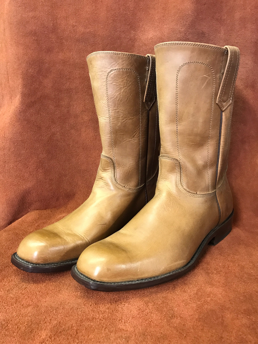 Cowboy Boot Makers ~ Tan leather cowboy boots espinoza boot maker