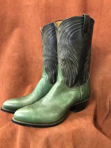 green bullhide cowboy boots