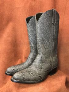 grey elephant print cowboy boots