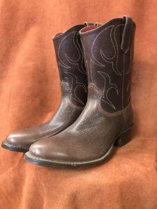 textured calf skin cowboy boots