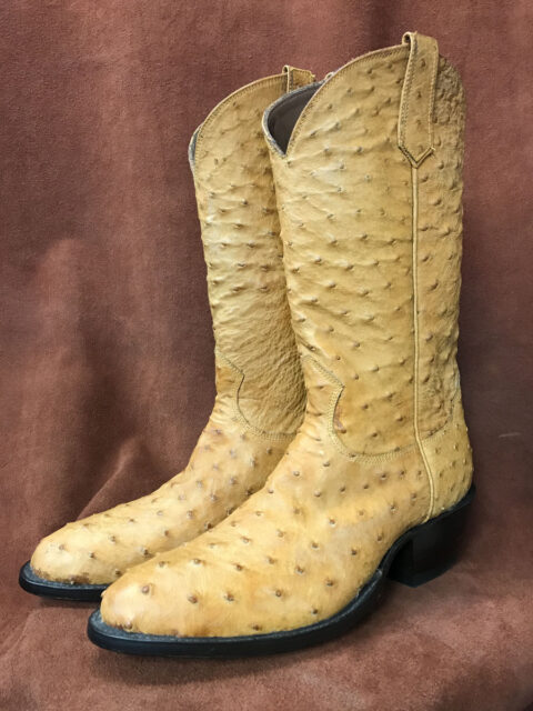 Full Quill Ostrich Vamp and Shaft Cowboy Boots