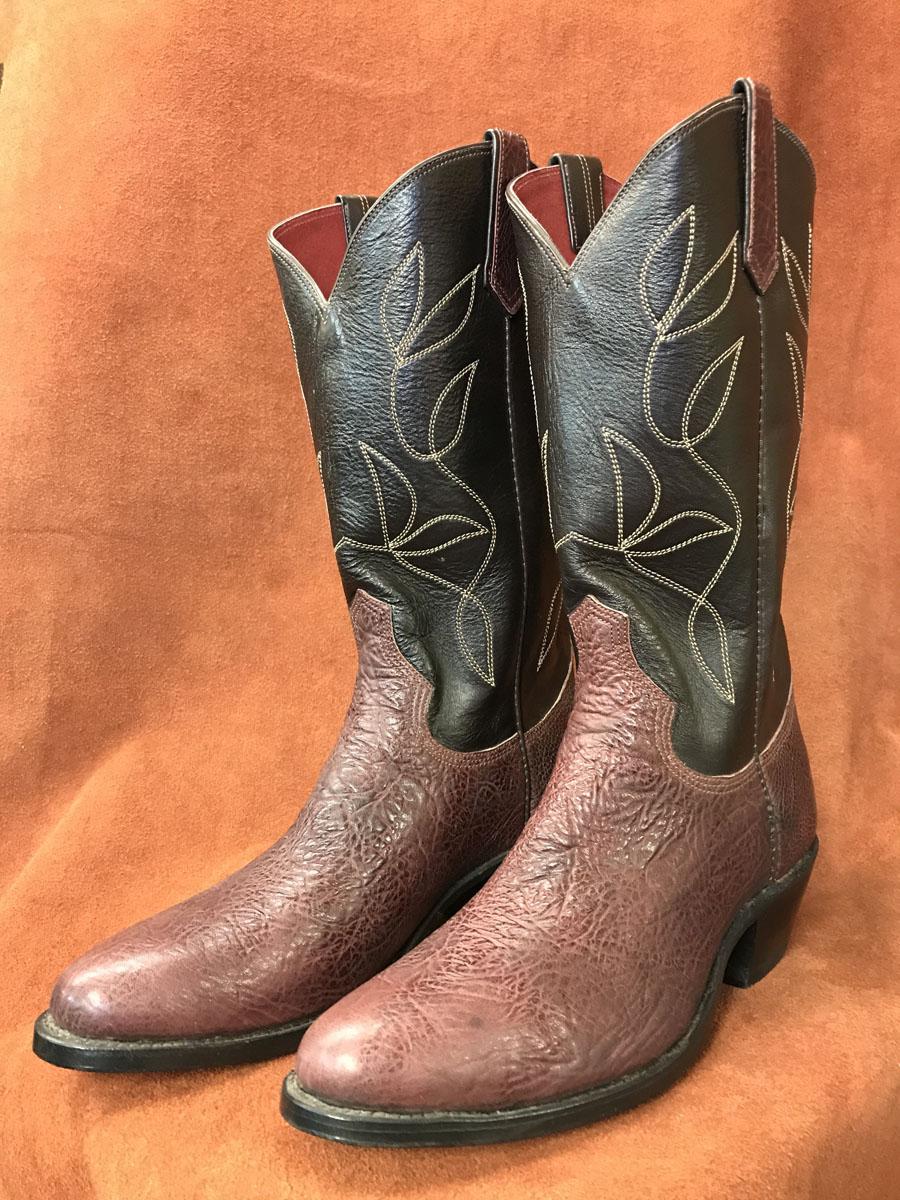 Burgundy Bullhide Cowboy Boots