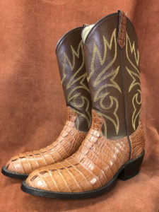 Cognac Alligator Tail Cowboy Boots