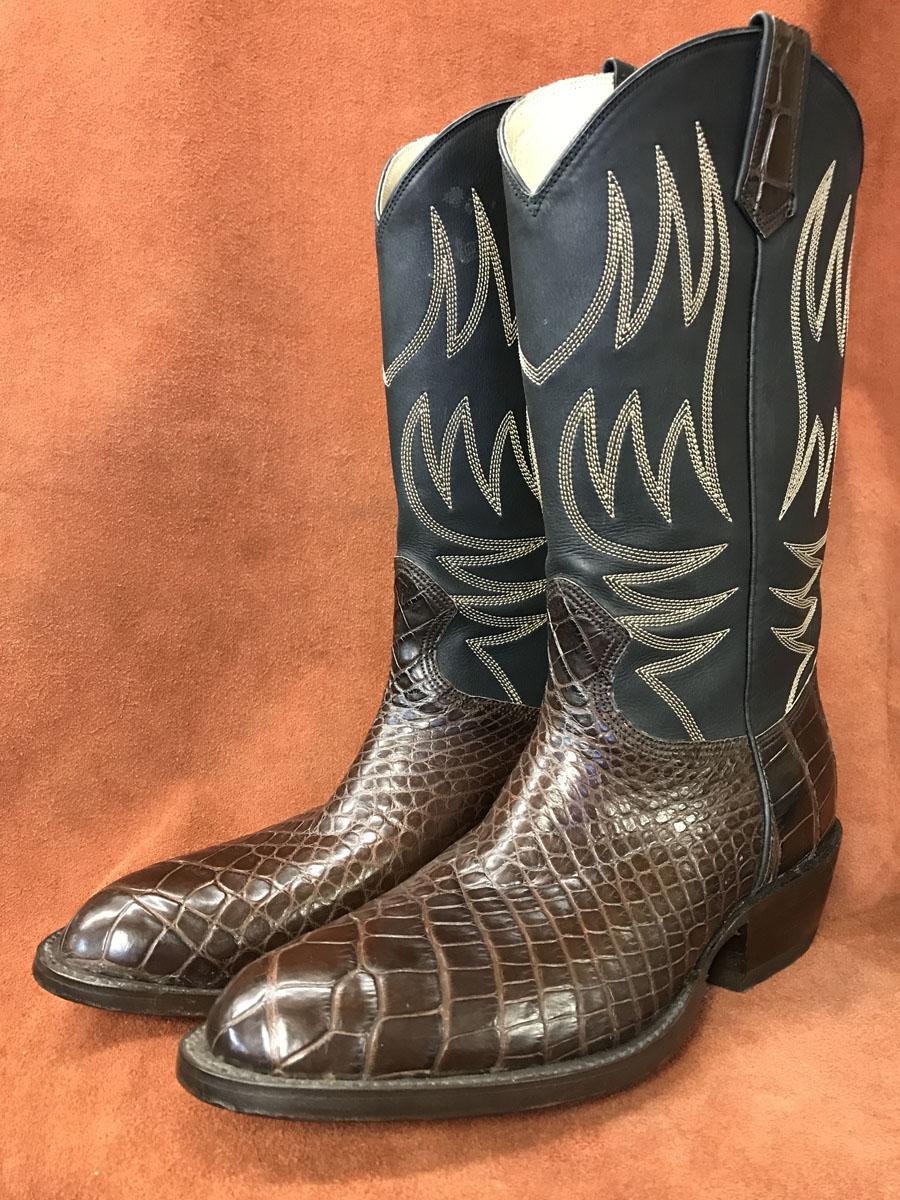 Dark Brown Alligator Cowboy Boots