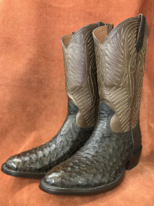 Dark Brown Full Quill Ostrich Cowboy Boots