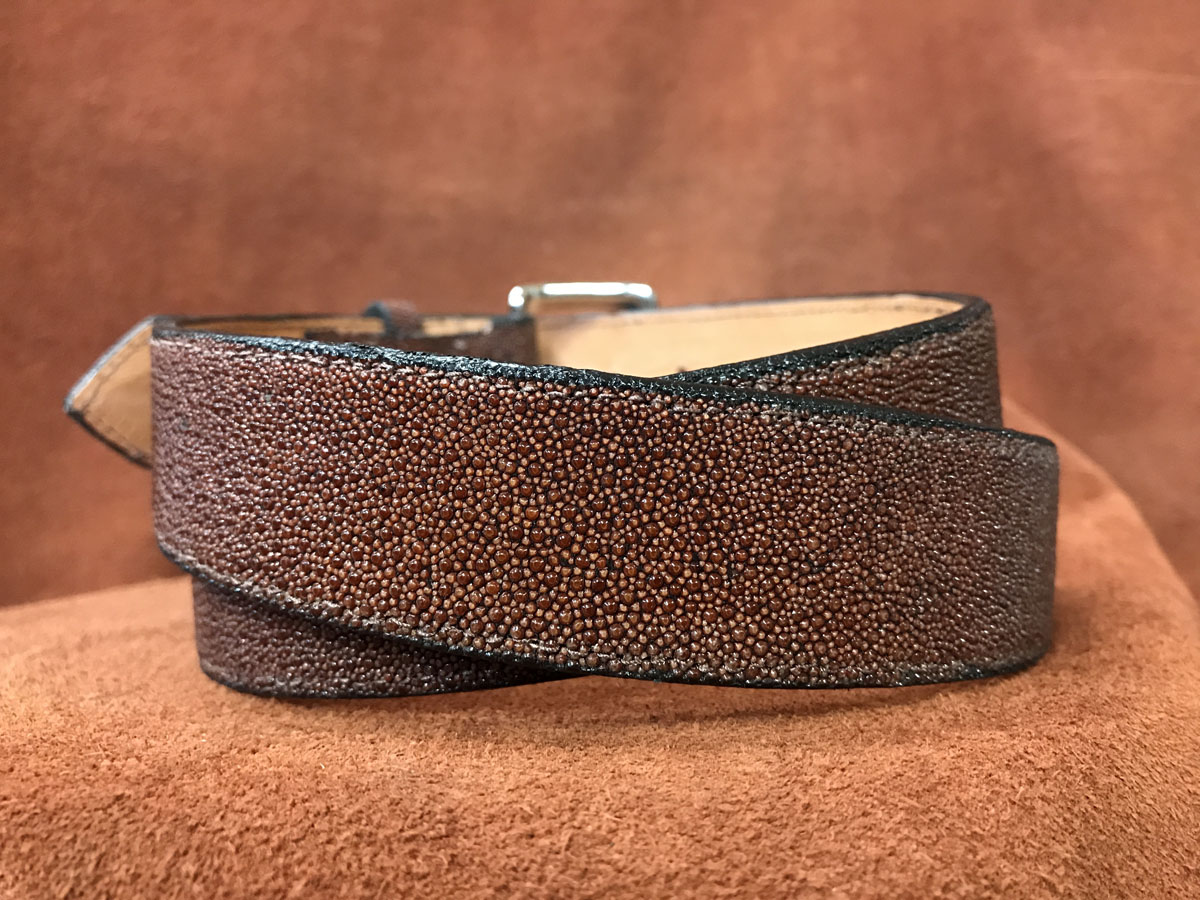 brown stingray belt