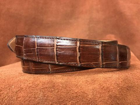 whiskey alligator belt