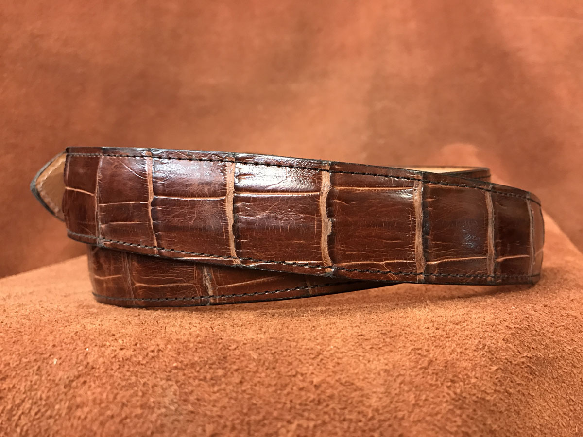 whiskey alligator belt
